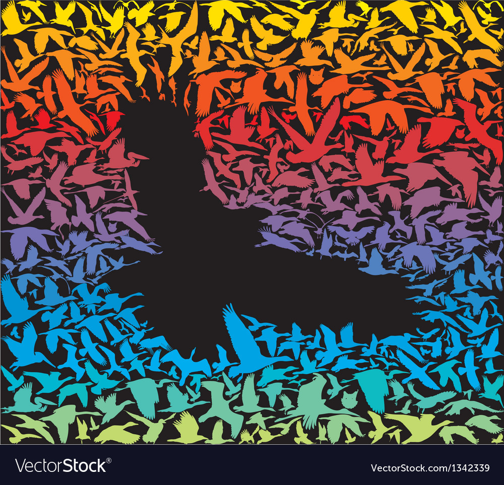 Abstract predator bird and its prey vector | Price: 1 Credit (USD $1)