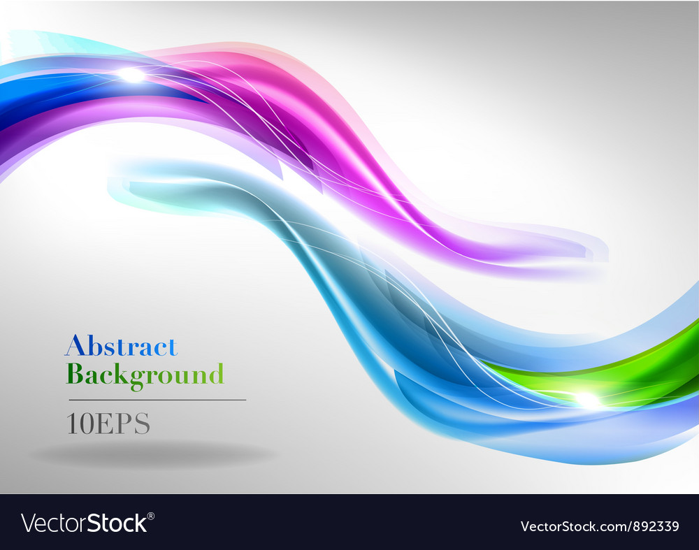 Abstract white two curve blue green purple vector | Price: 1 Credit (USD $1)