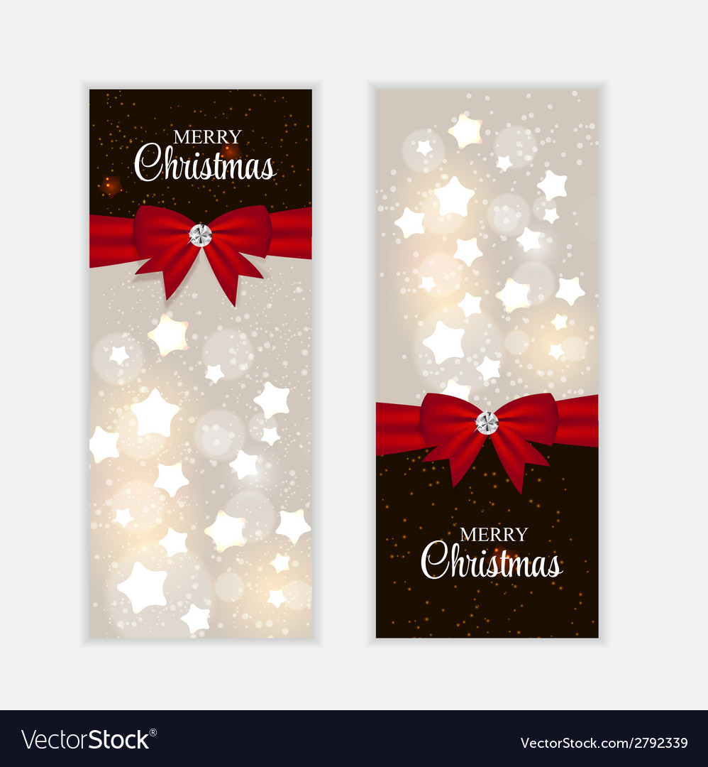 Christmas website banner and card background vector