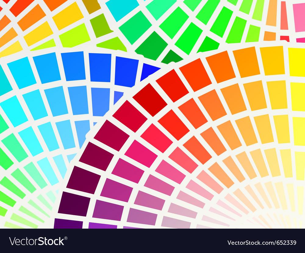 Color spectrum palette background vector | Price: 1 Credit (USD $1)