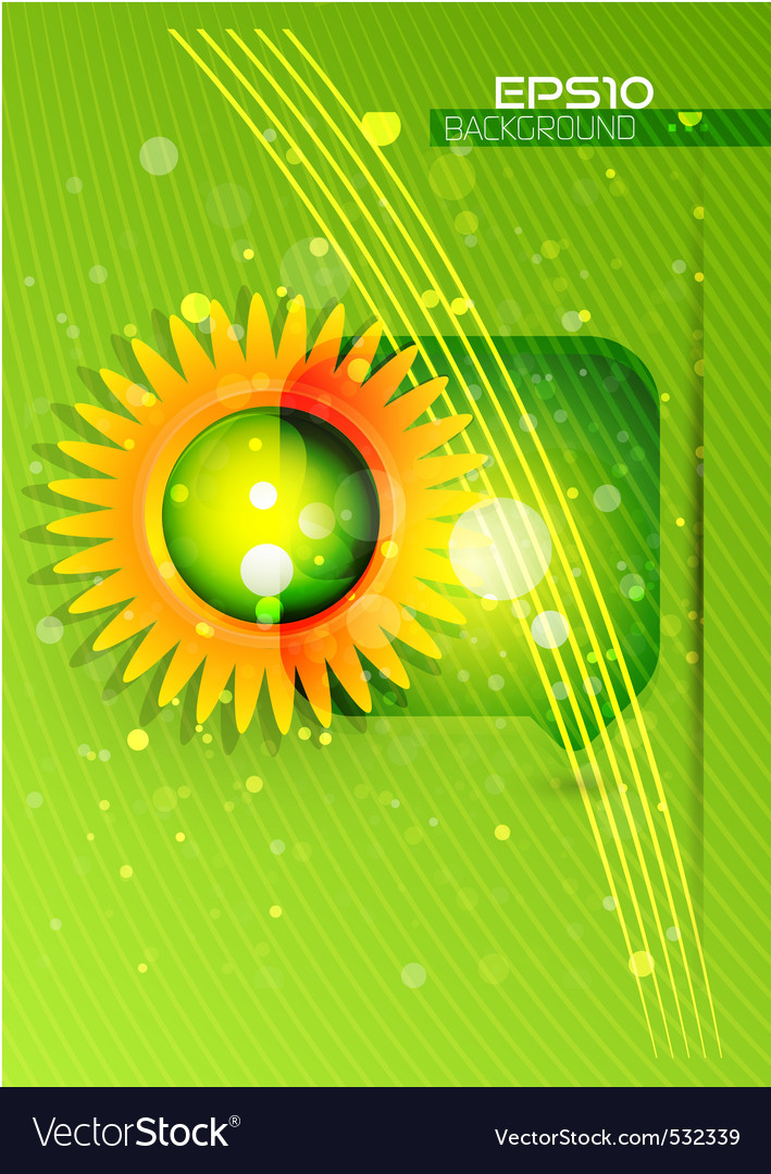 Ecology template vector | Price: 1 Credit (USD $1)