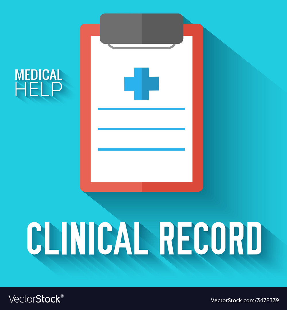 Flat clinical record background concept vector | Price: 1 Credit (USD $1)