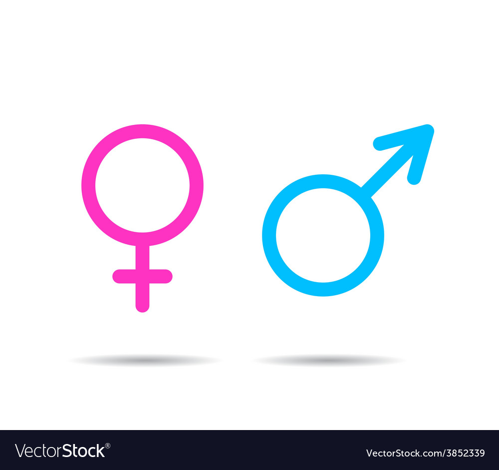 Gender symbol icons vector | Price: 1 Credit (USD $1)