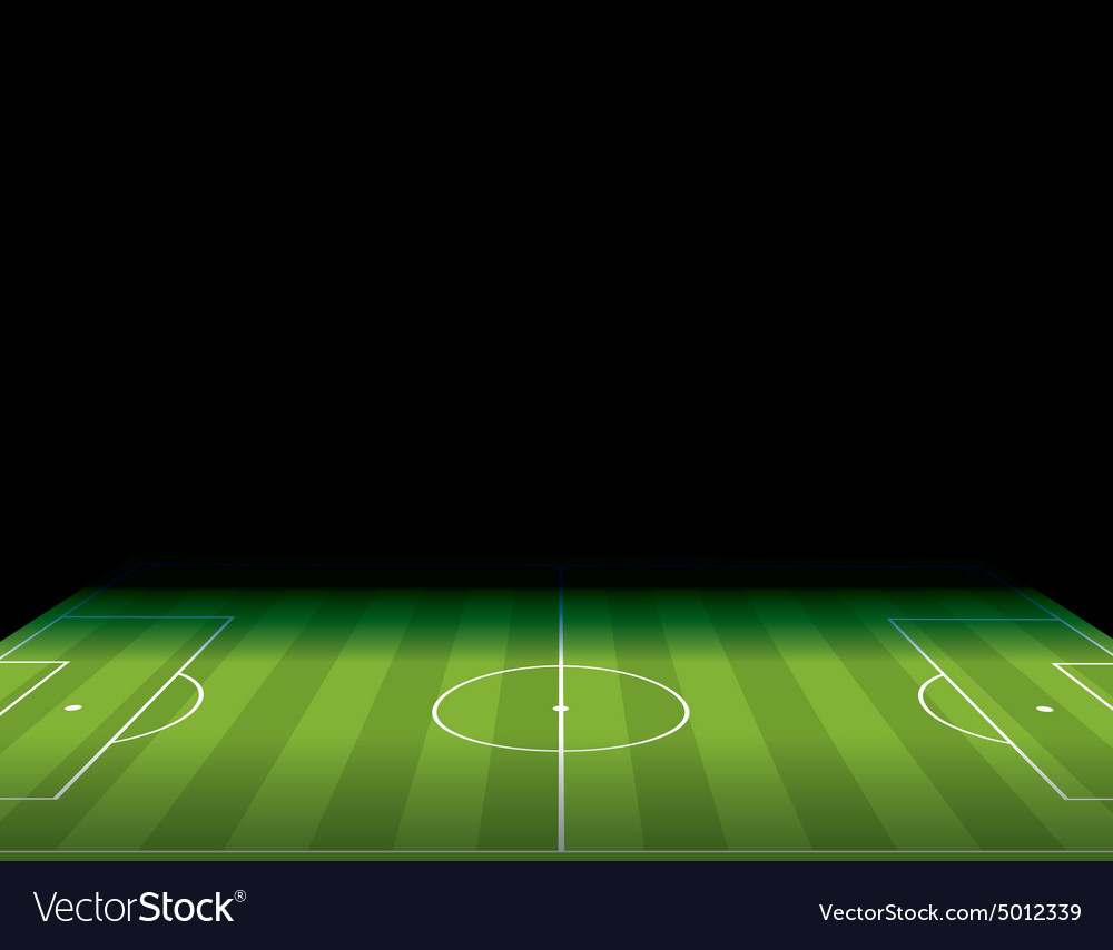 Soccer field with copy space vector