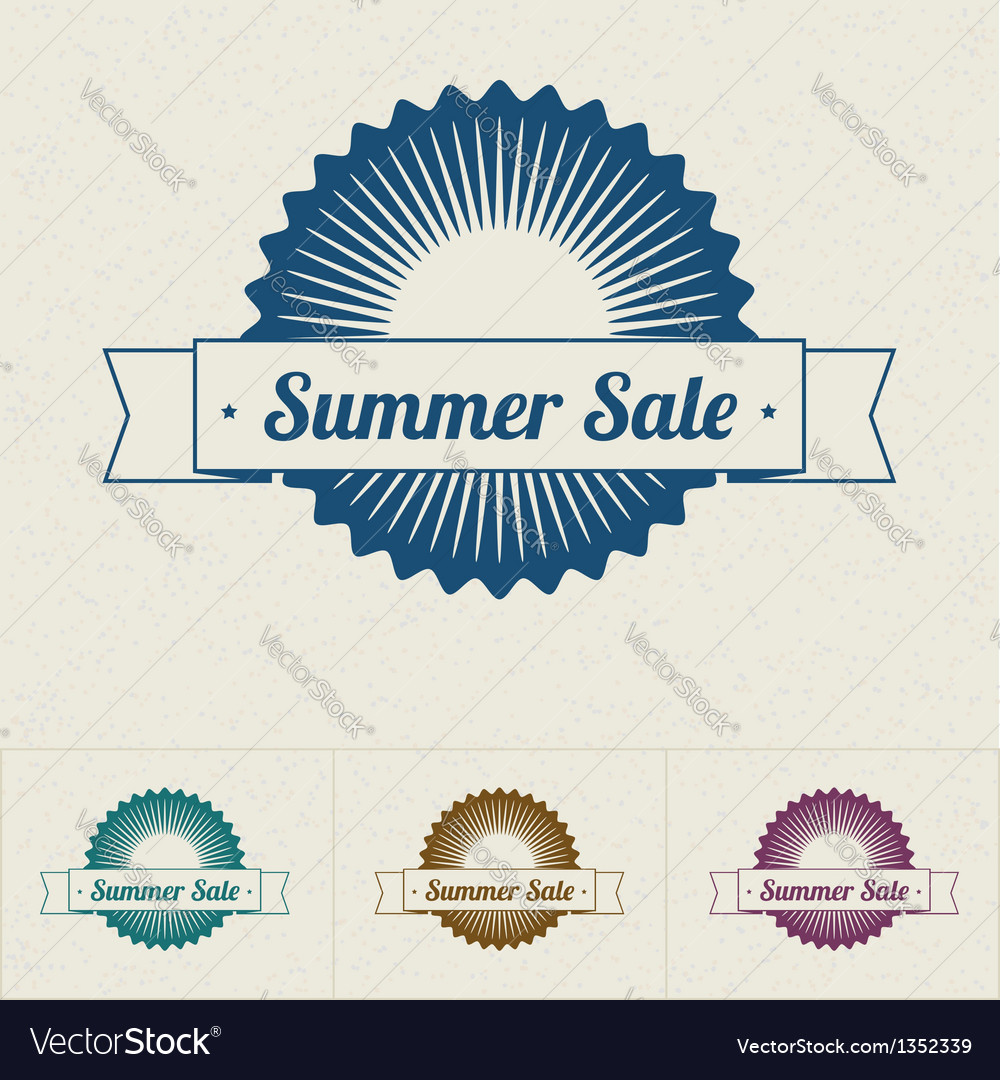 Summer sale tags vector | Price: 1 Credit (USD $1)