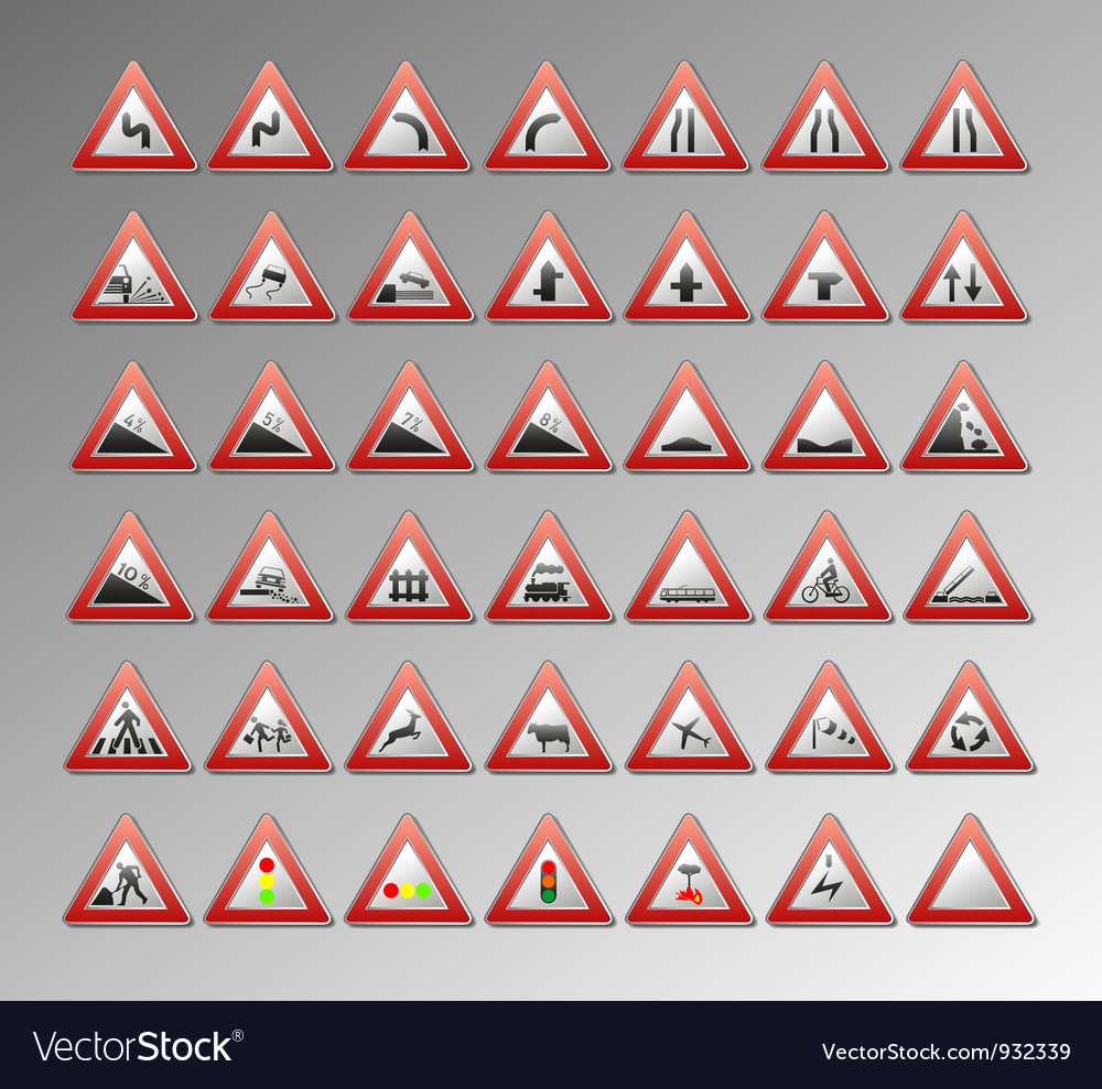 Warning signs vector | Price: 1 Credit (USD $1)