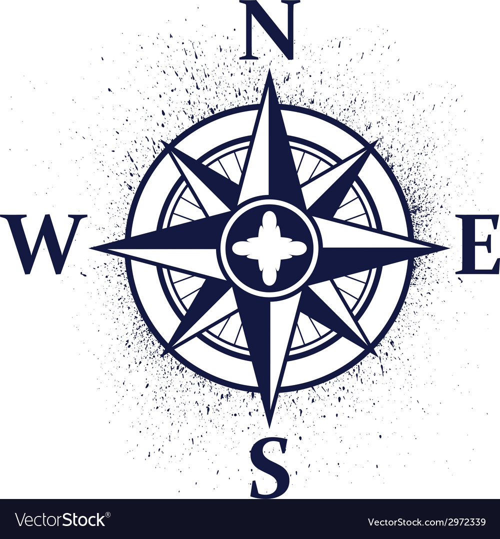 Wind rose with ink blots vector | Price: 1 Credit (USD $1)