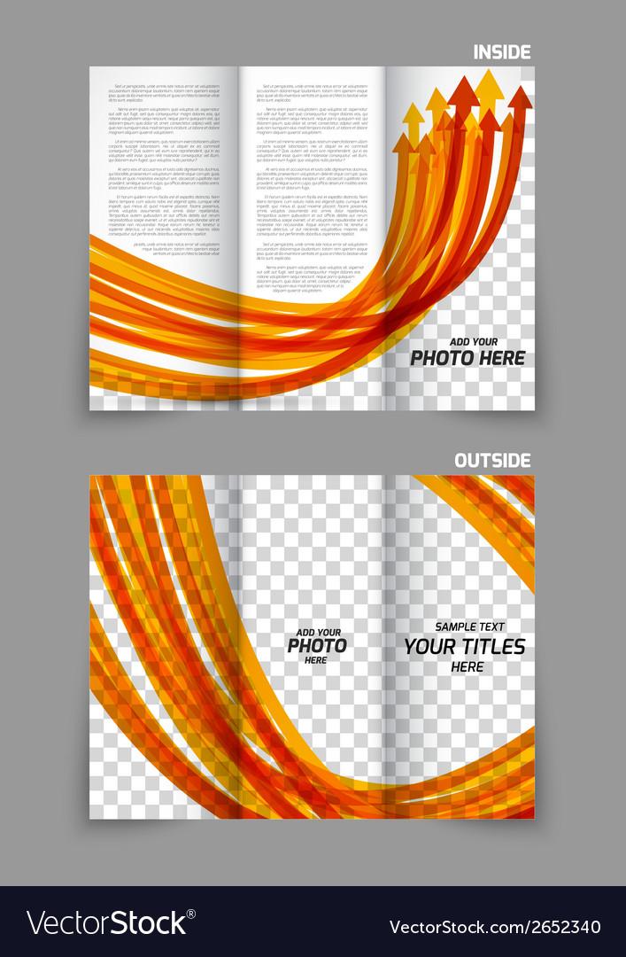 Arrows tri-fold brochure vector | Price: 1 Credit (USD $1)