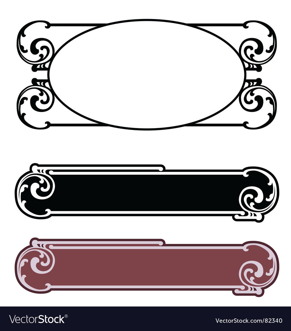 Art nouveau nameplate vector | Price: 1 Credit (USD $1)