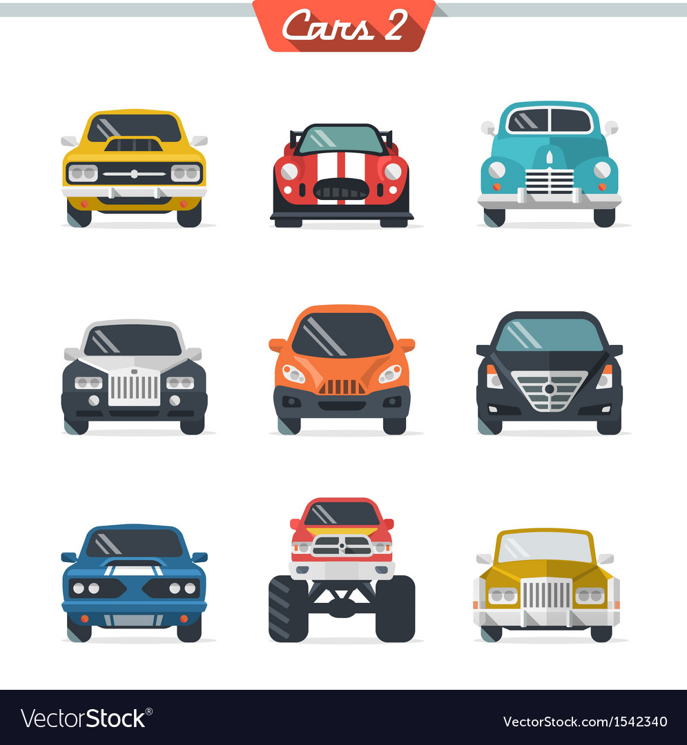 Car icon set 2 vector | Price: 1 Credit (USD $1)