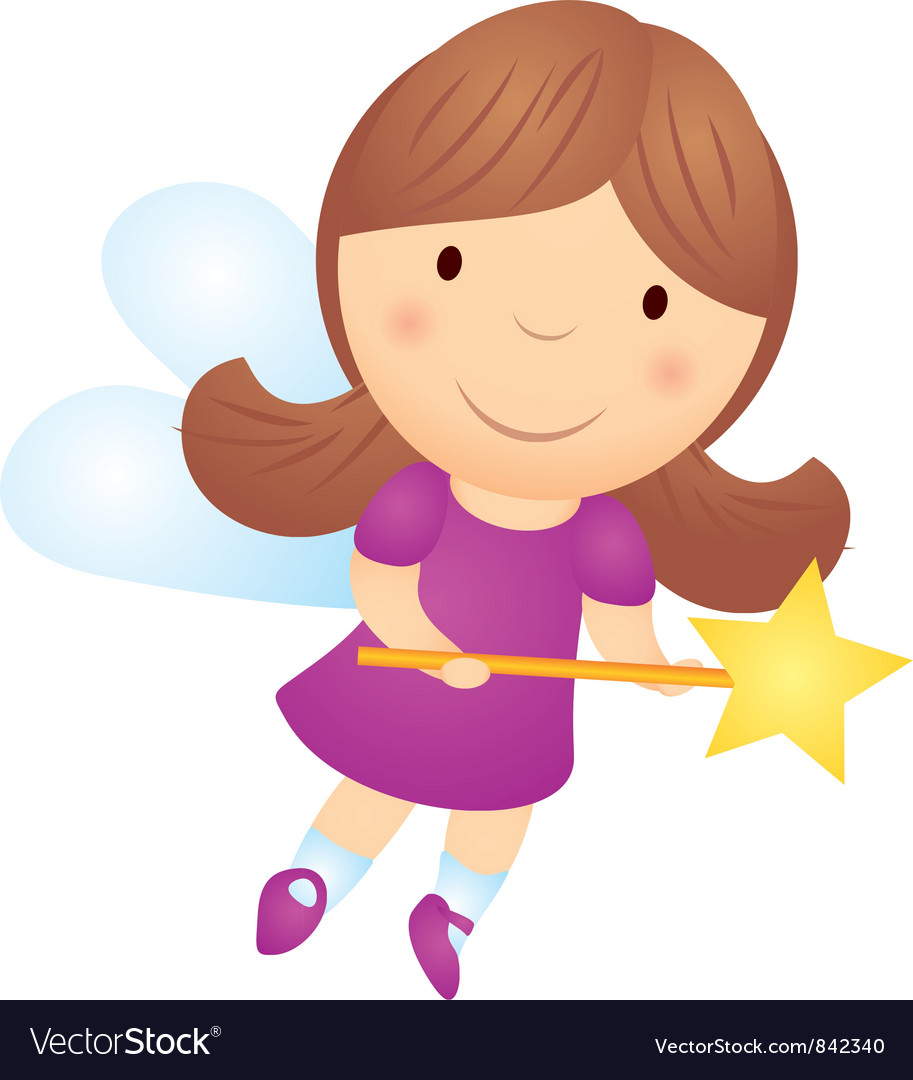 Cartoon little girl fairy vector | Price: 1 Credit (USD $1)