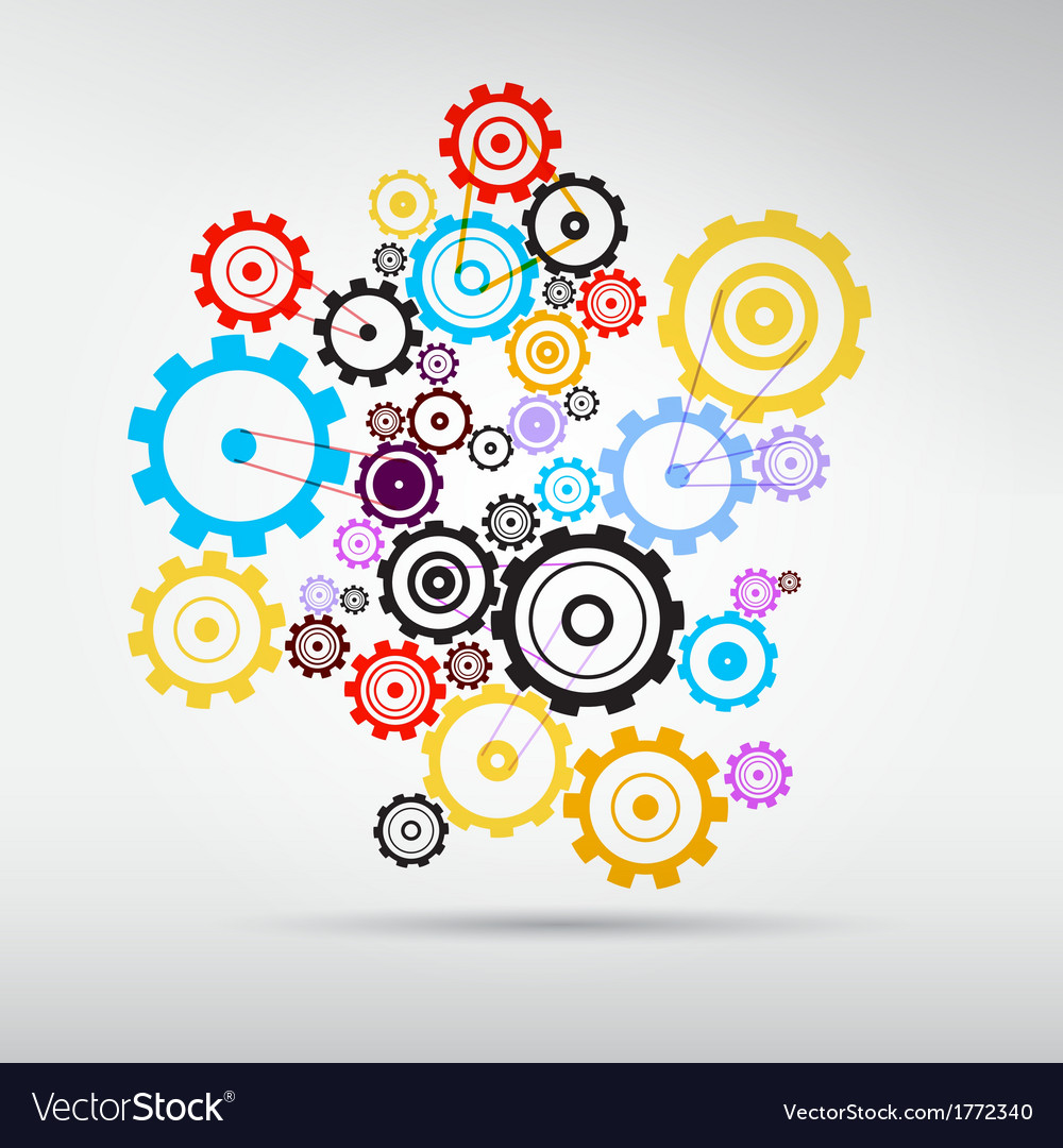 Colorful abstract cogs - gears vector | Price: 1 Credit (USD $1)