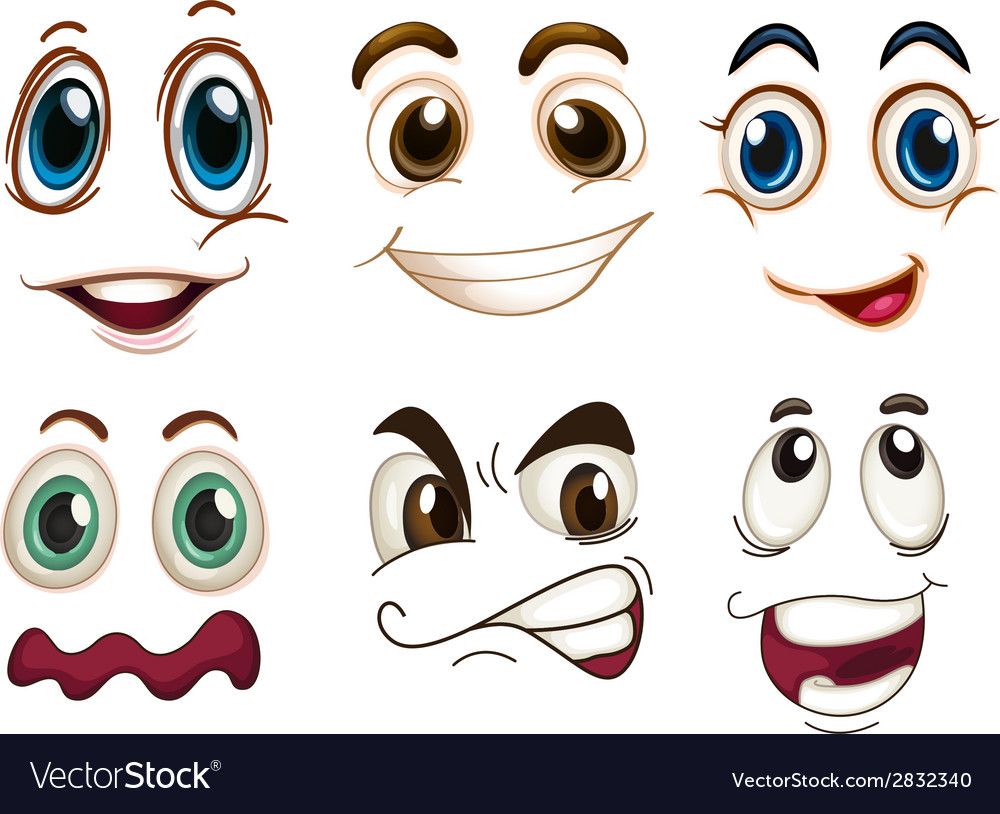 Different facial expressions vector | Price: 1 Credit (USD $1)