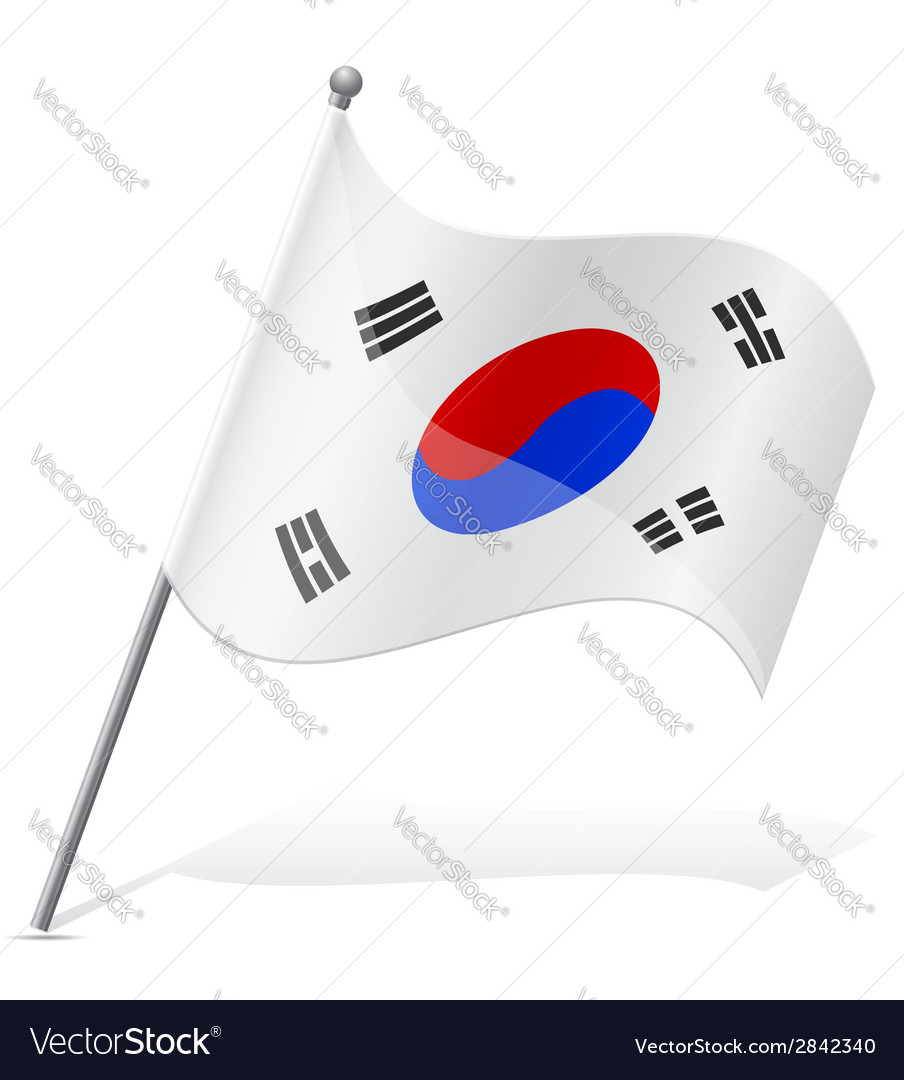 Flag of south korea vector | Price: 1 Credit (USD $1)