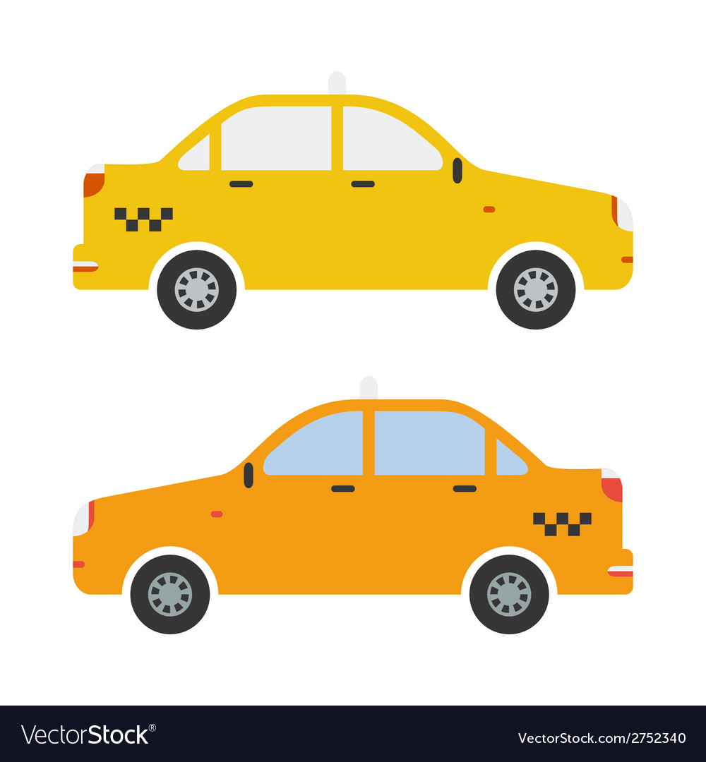 Graphic taxi car flat design vector | Price: 1 Credit (USD $1)