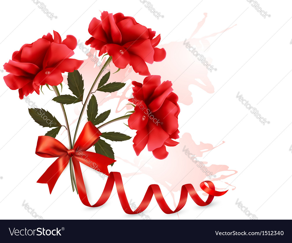 Holiday background with beautiful red roses and a vector | Price: 1 Credit (USD $1)