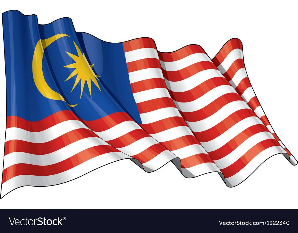 Malaysia flag vector | Price: 1 Credit (USD $1)
