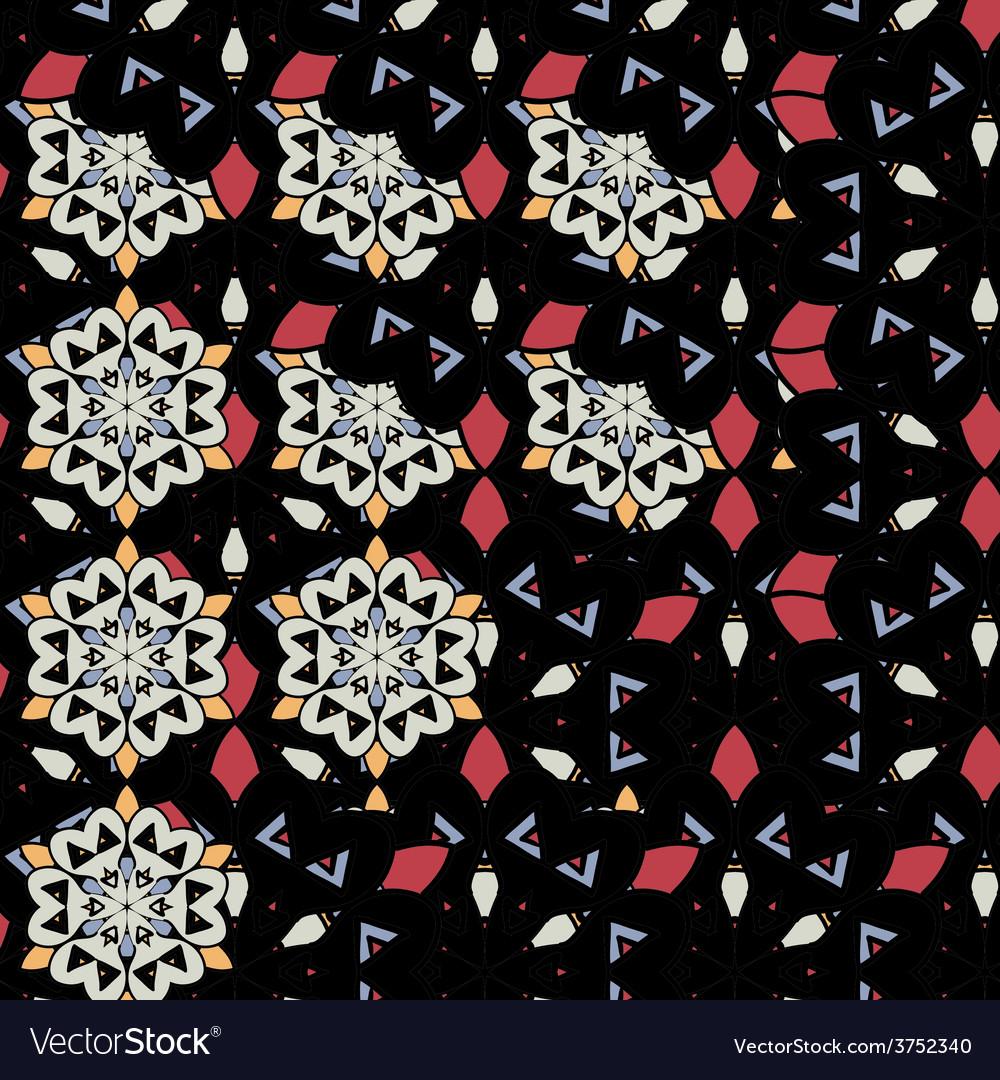 Mandalas wallpaper seamless oriental design vector | Price: 1 Credit (USD $1)