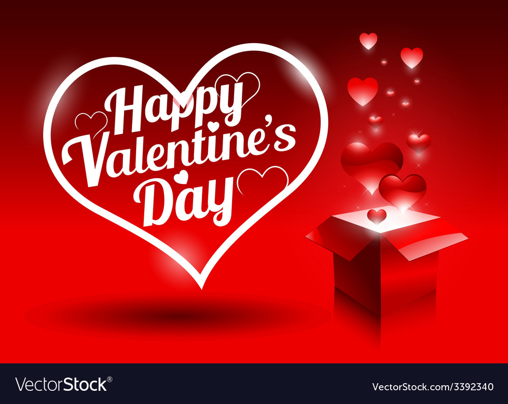 Modern bright valentines day gift vector | Price: 1 Credit (USD $1)