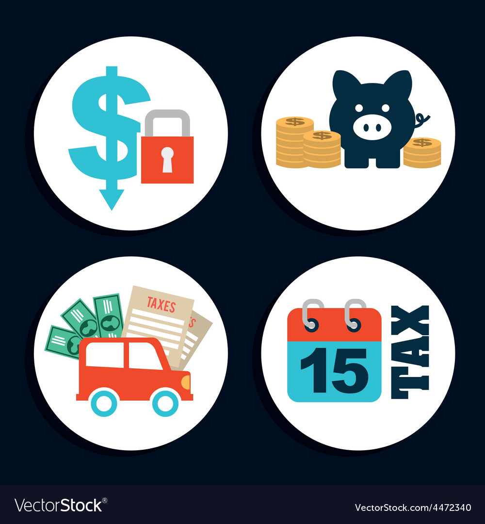 Money icons vector | Price: 1 Credit (USD $1)