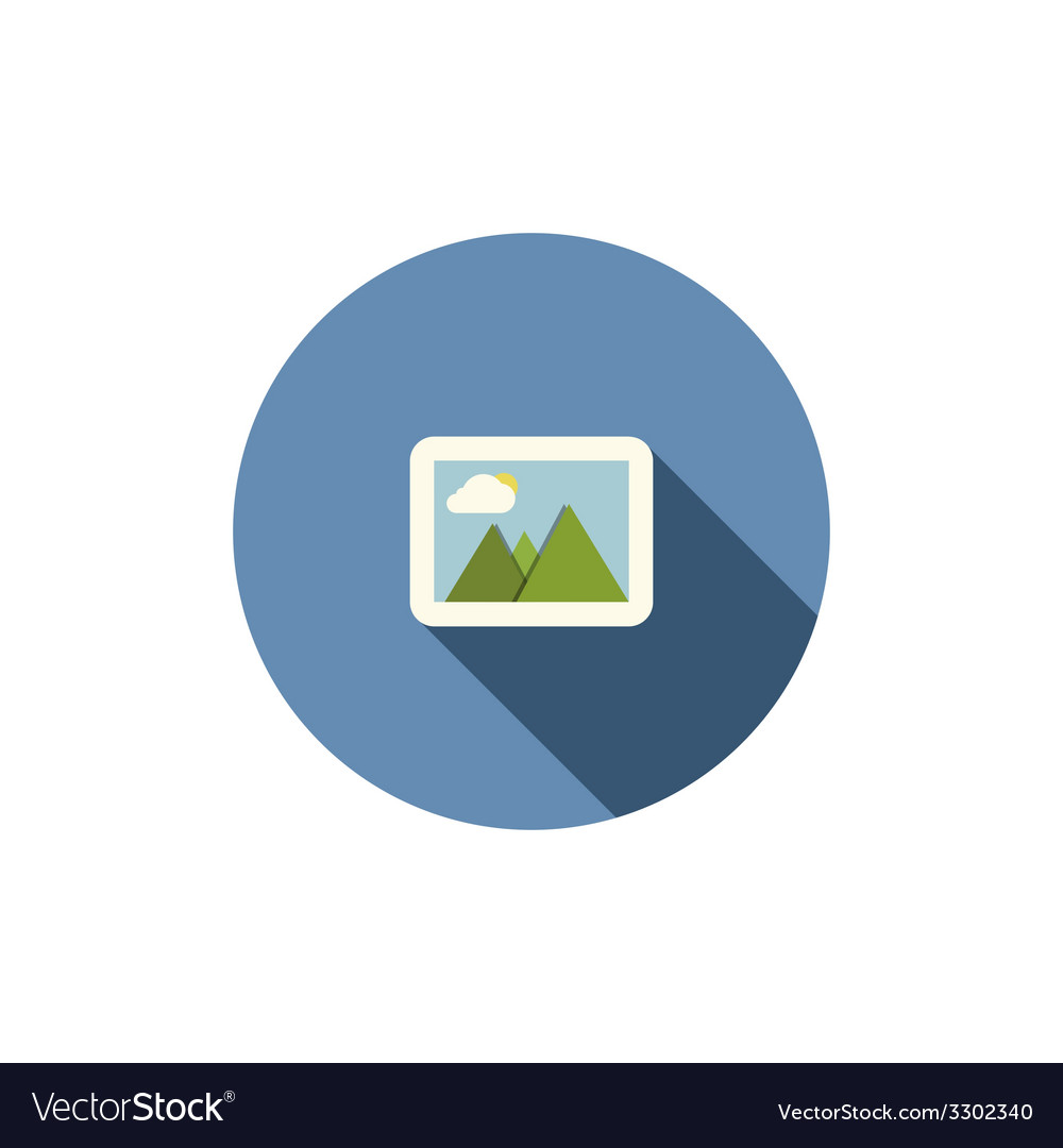 Photograph icon flat vector | Price: 1 Credit (USD $1)