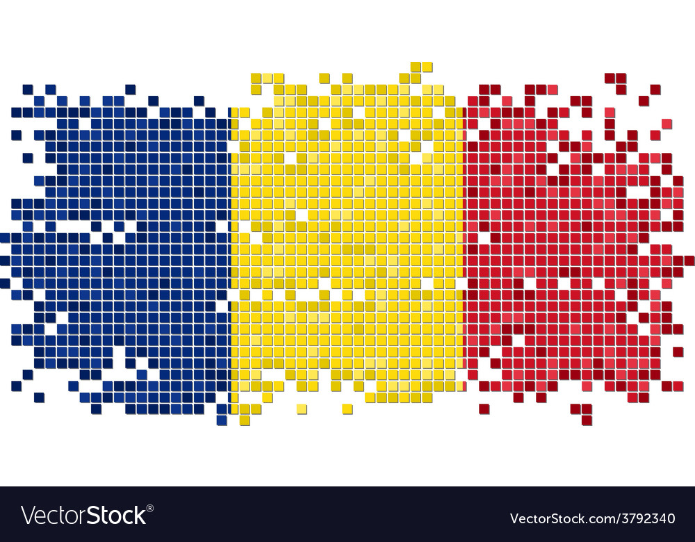 Romanian grunge tile flag vector | Price: 1 Credit (USD $1)