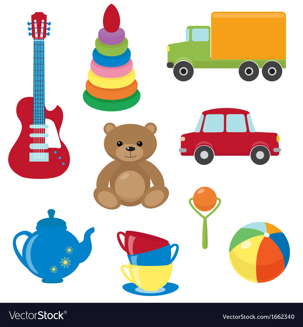 Set of toys vector | Price: 1 Credit (USD $1)