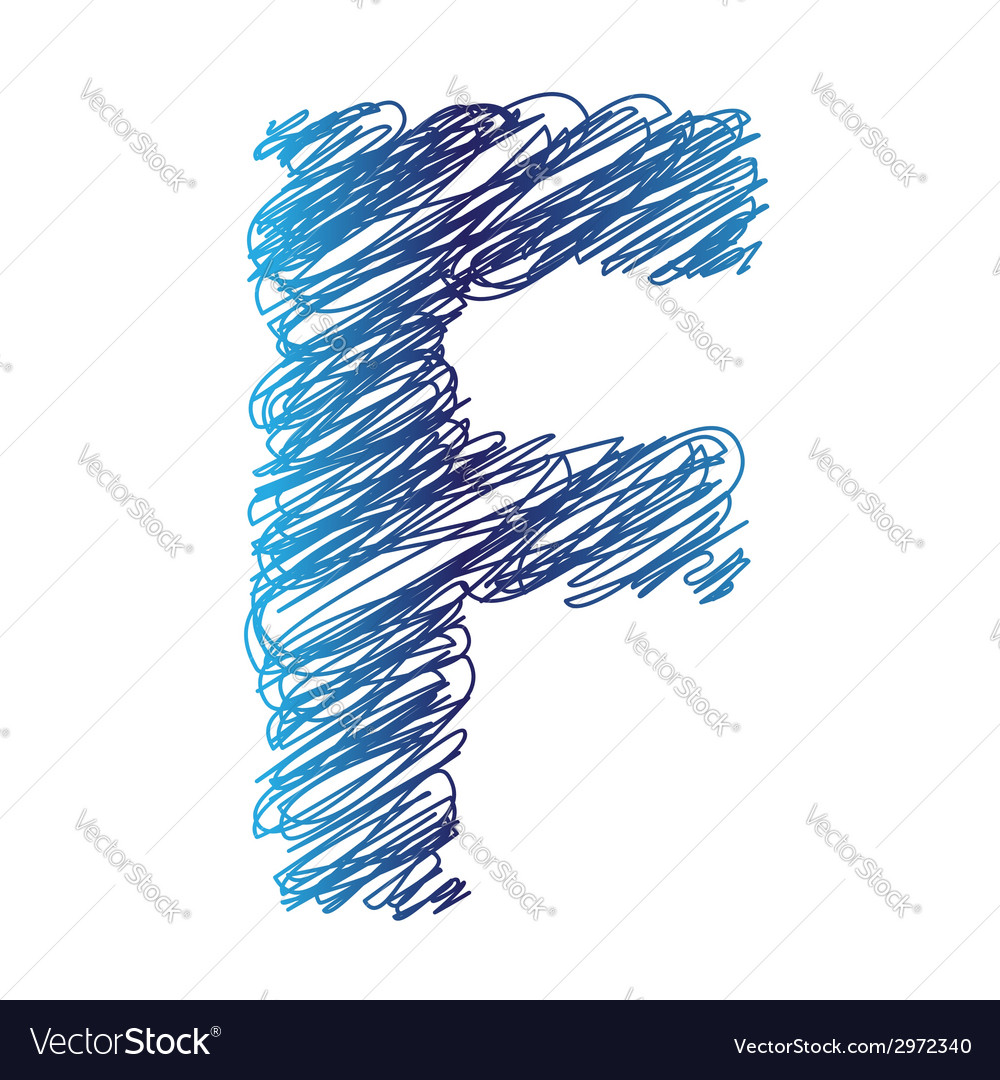 Sketched letter f vector | Price: 1 Credit (USD $1)