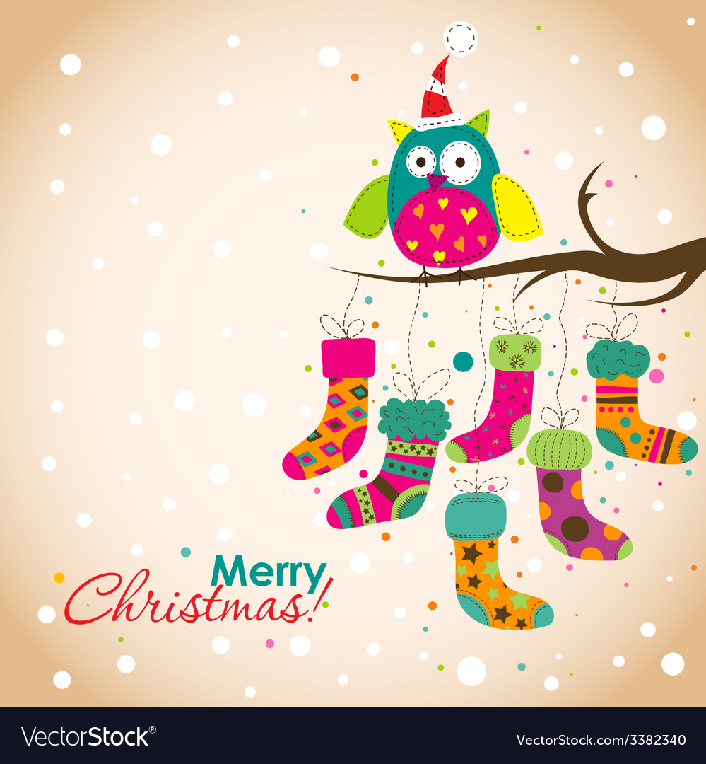 Template christmas greeting card vector | Price: 1 Credit (USD $1)