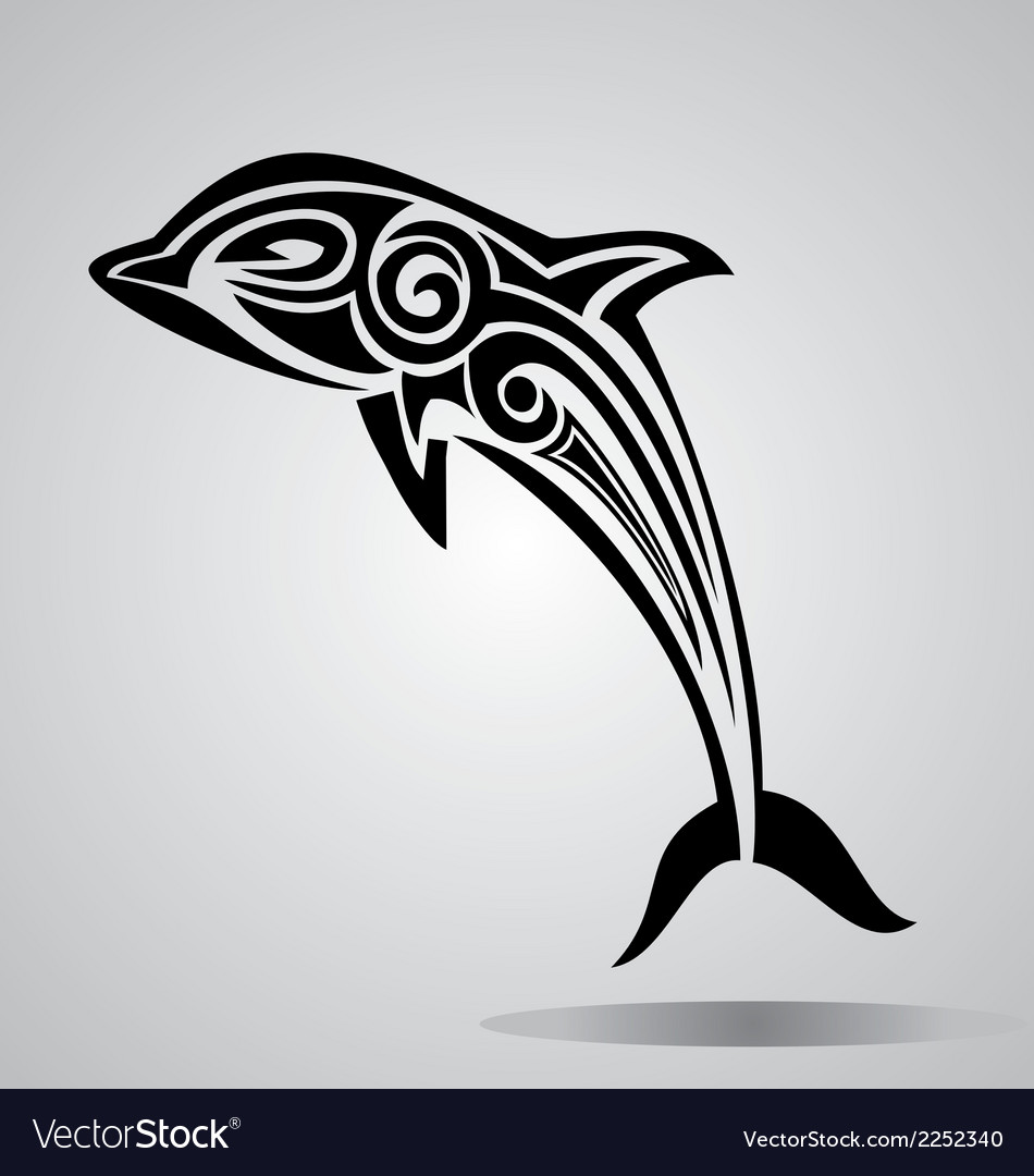 Tribal dolphin vector | Price: 1 Credit (USD $1)