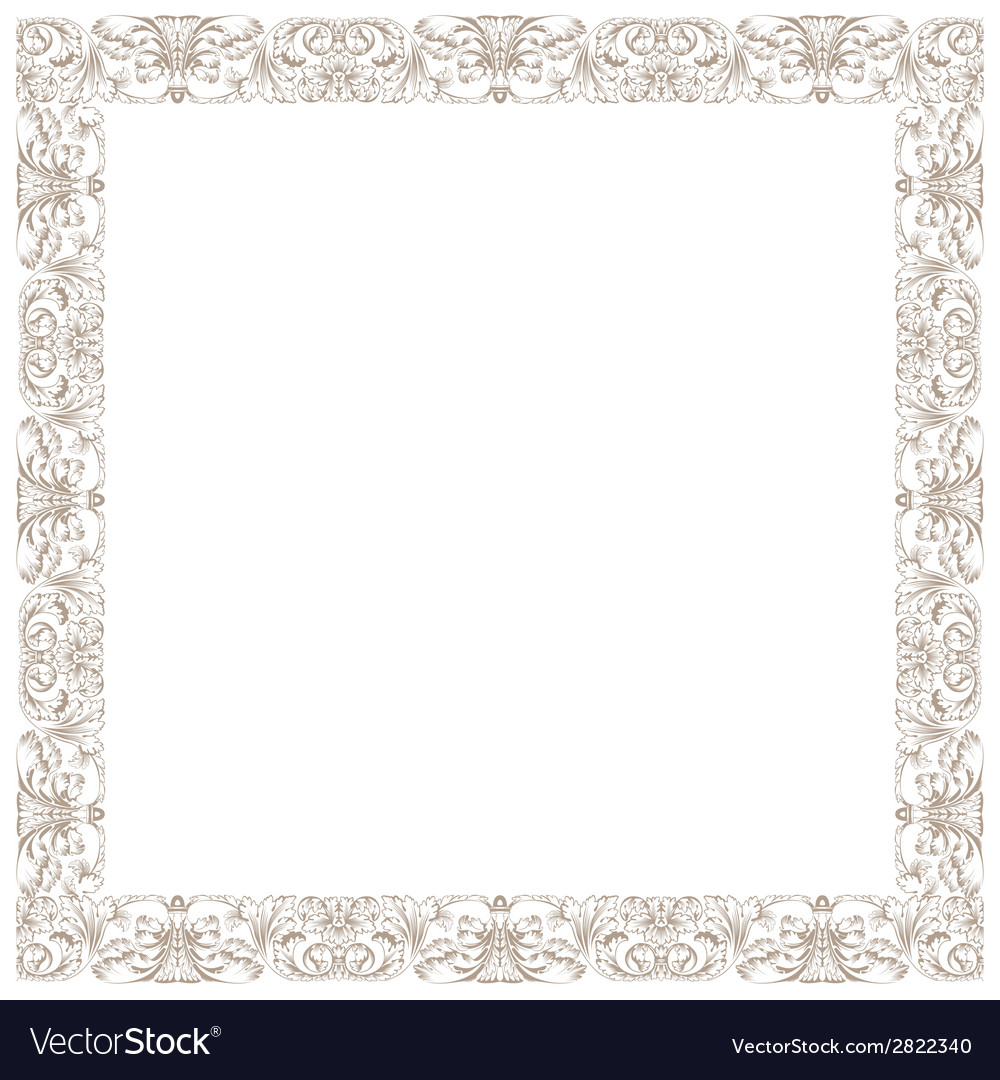 Vintage decorative framework isolated in white vector | Price: 1 Credit (USD $1)