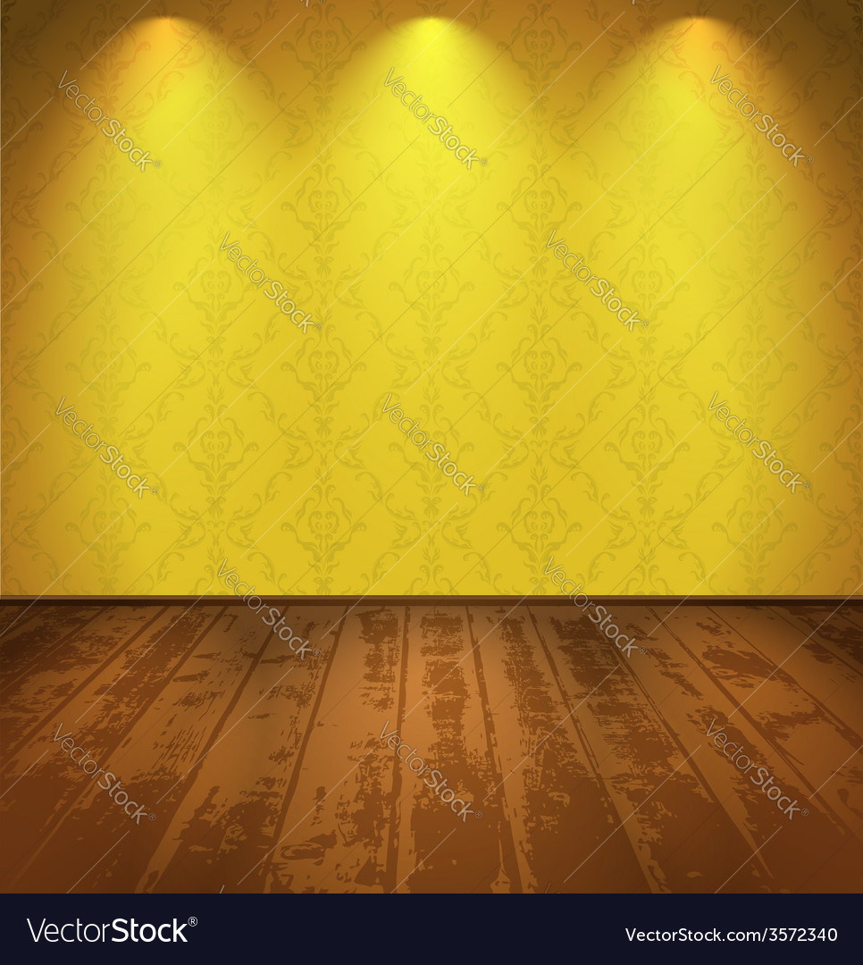 Yellow vintage room vector | Price: 1 Credit (USD $1)