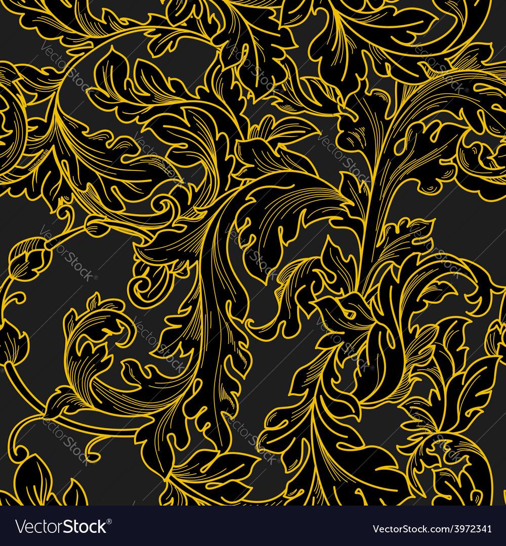 Baroque floral pattern vector   Price: 1 Credit (USD $1)