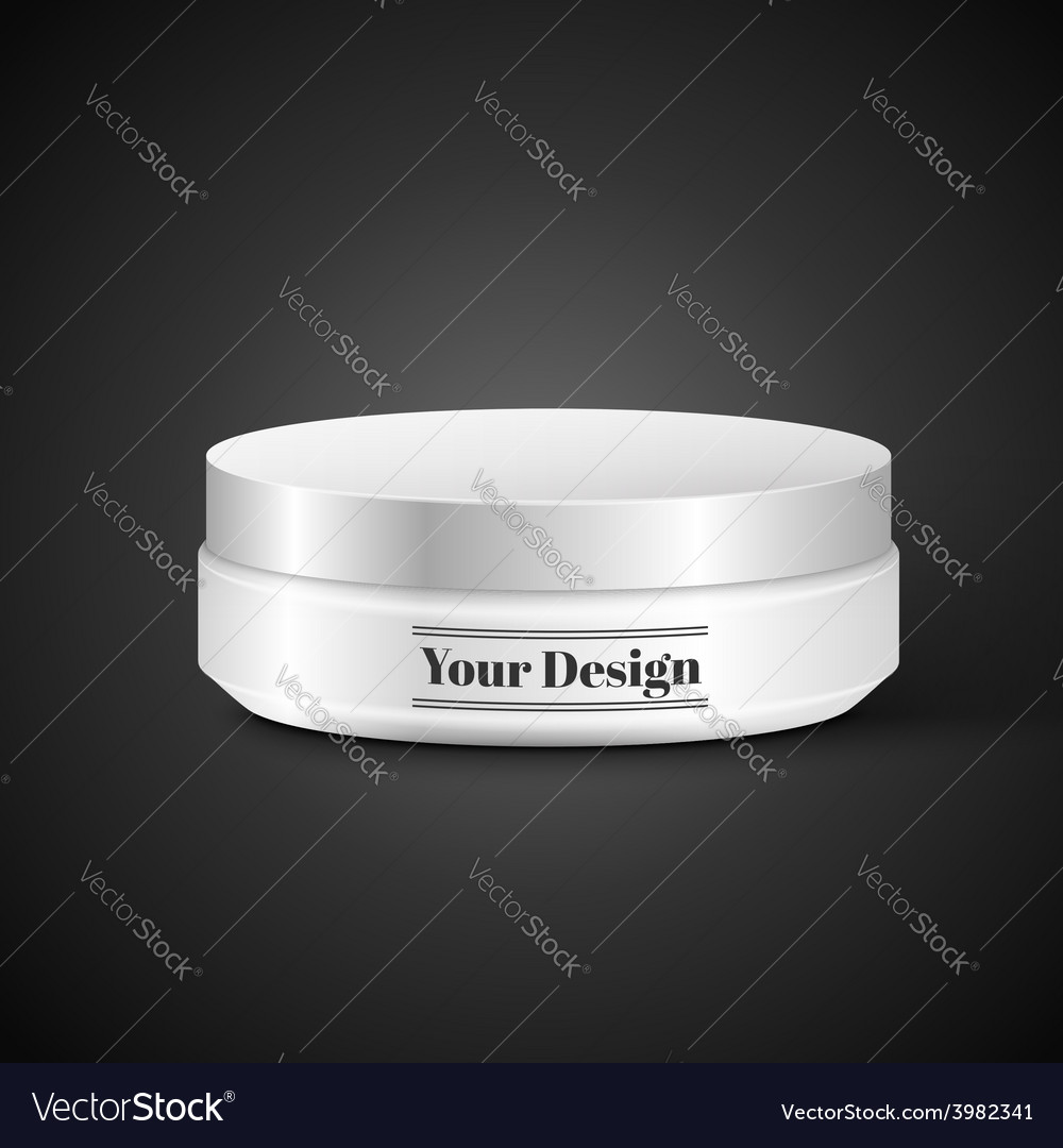 Blank cosmetic container for cream powder or gel vector | Price: 1 Credit (USD $1)