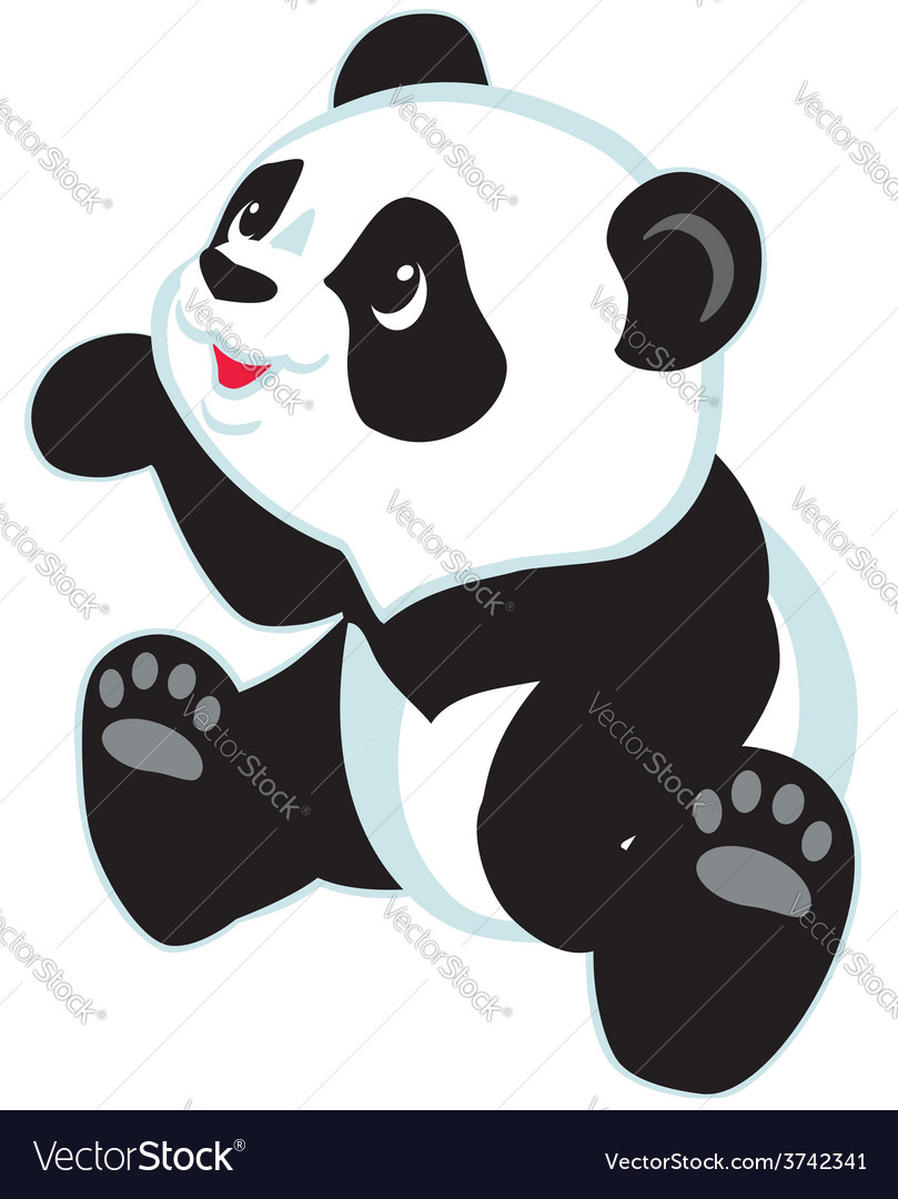 Cartoon panda vector | Price: 1 Credit (USD $1)