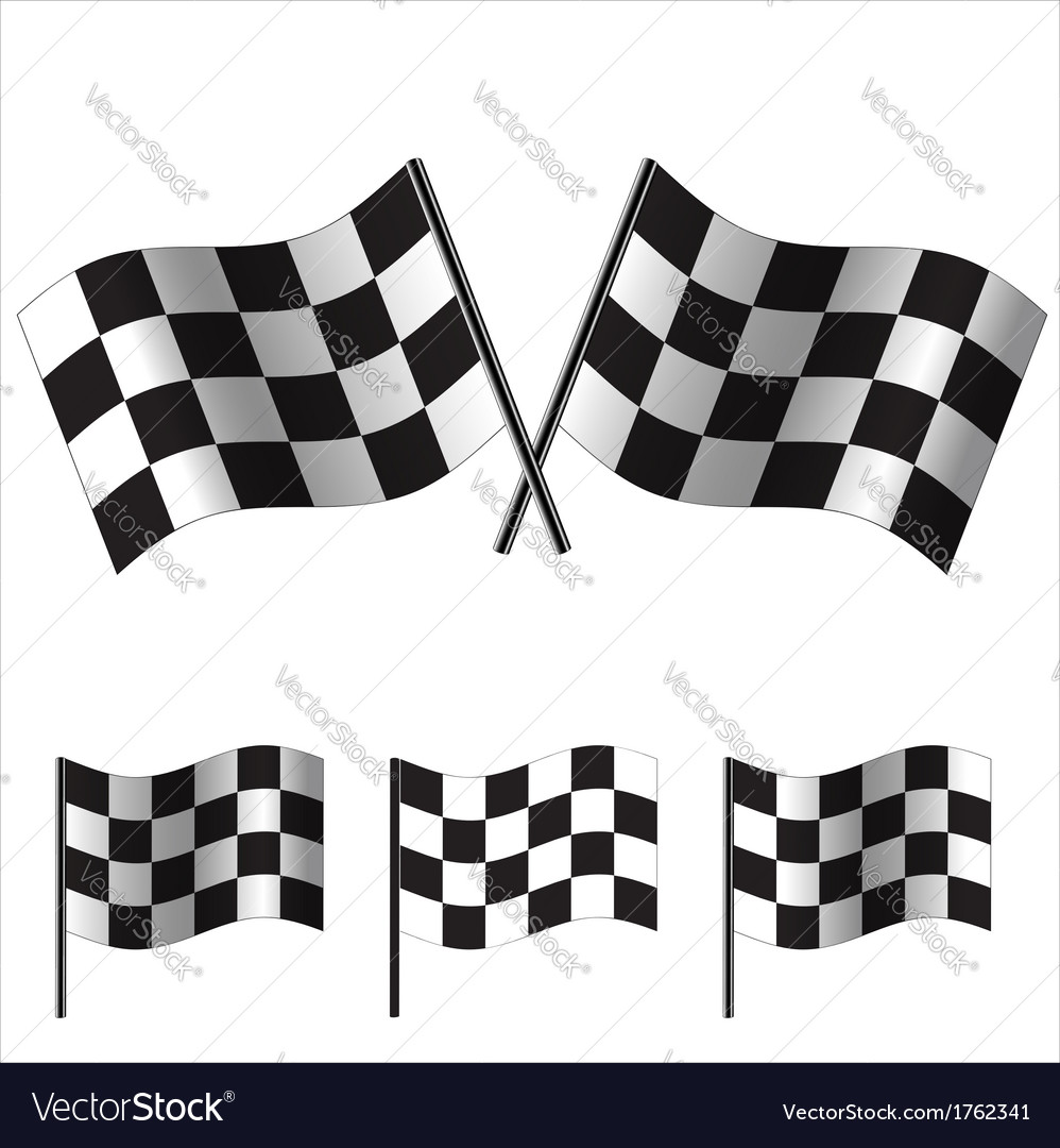 Checkered flags racing vector | Price: 1 Credit (USD $1)