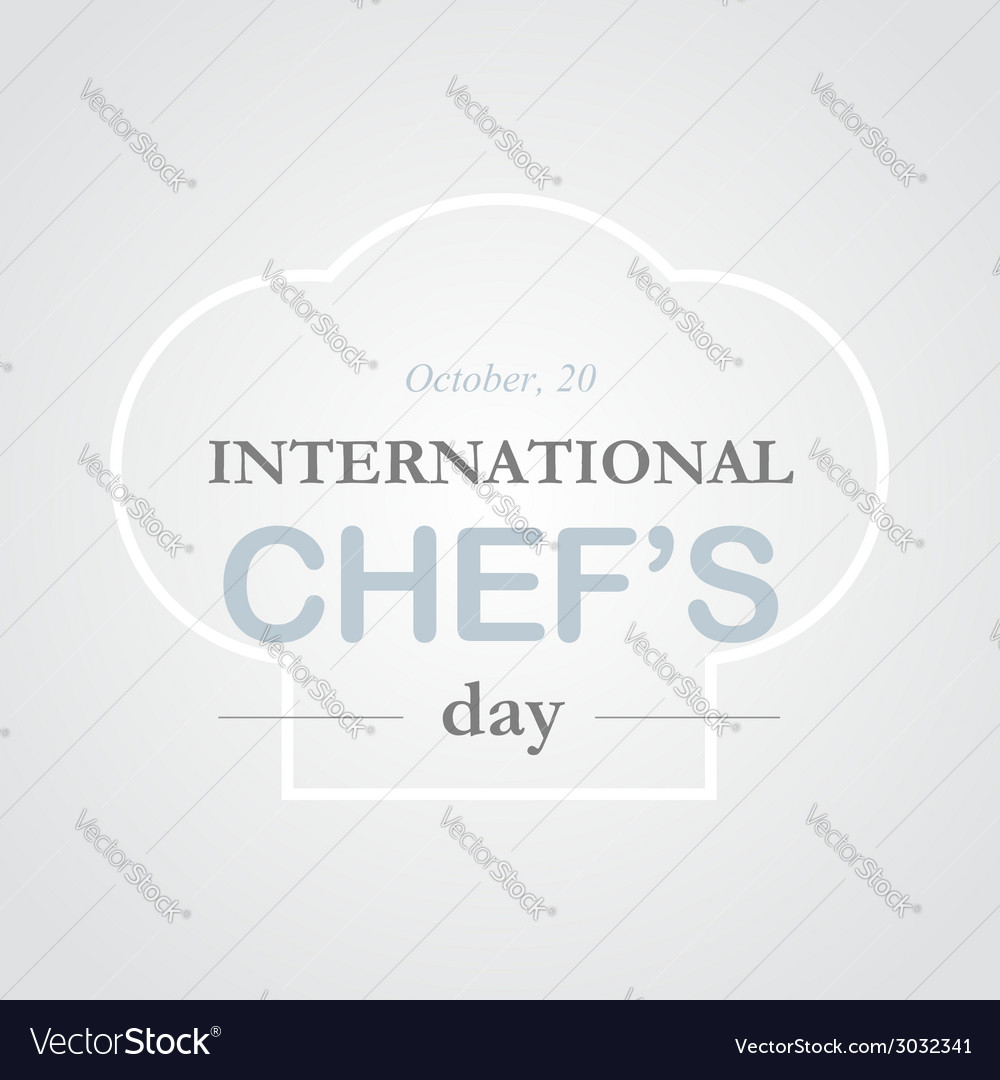 Chef day vector | Price: 1 Credit (USD $1)