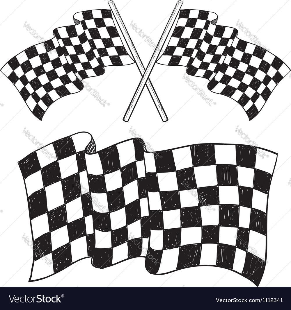 Doodle racing flag speed vector | Price: 1 Credit (USD $1)