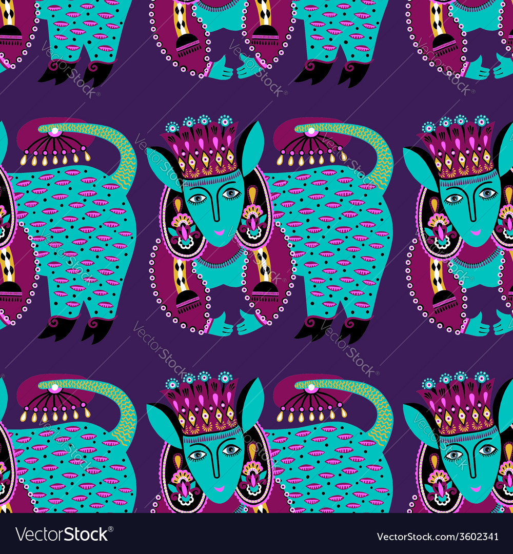 Ethnic seamless pattern fabric with unusual tribal vector | Price: 1 Credit (USD $1)