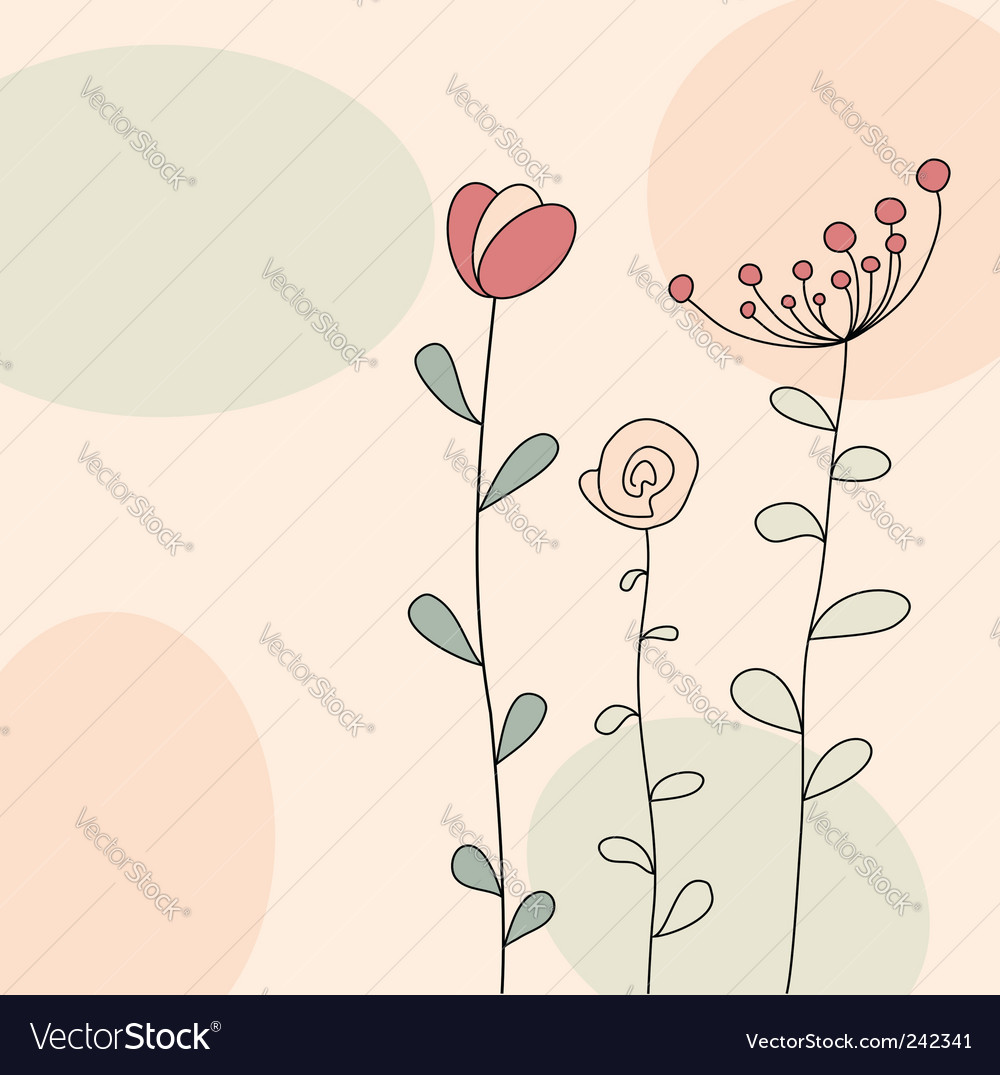 Floral greeting vector | Price: 1 Credit (USD $1)