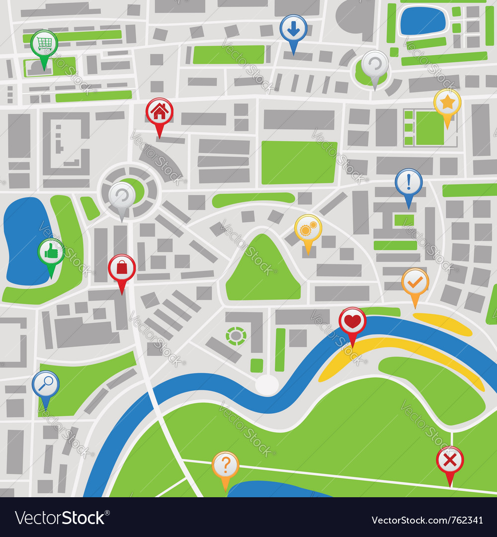 Map with pointers vector   Price: 1 Credit (USD $1)