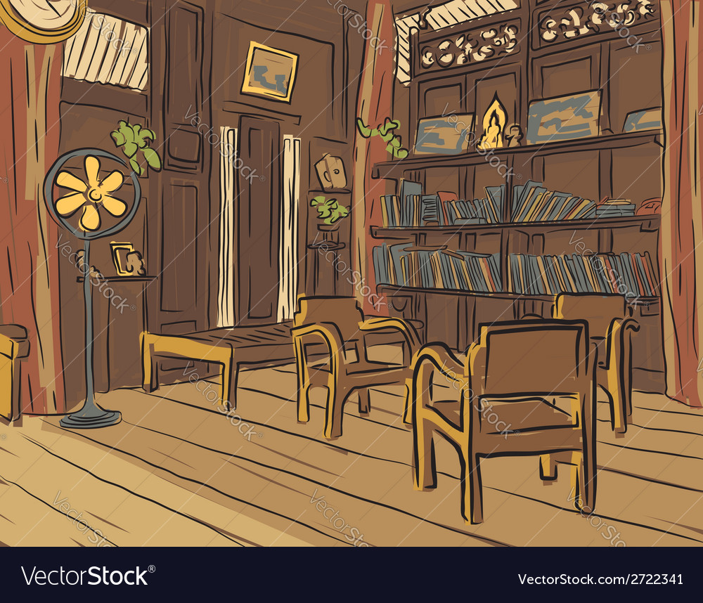 Reading room vector | Price: 1 Credit (USD $1)