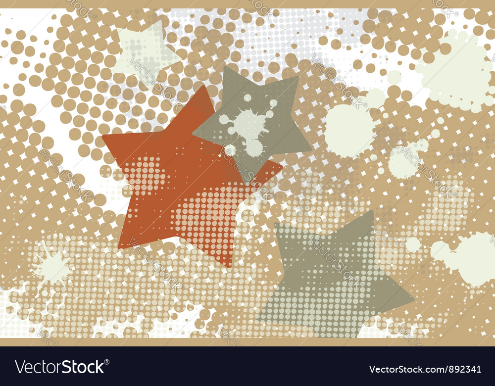 Star grunge splash halftone vector | Price: 1 Credit (USD $1)