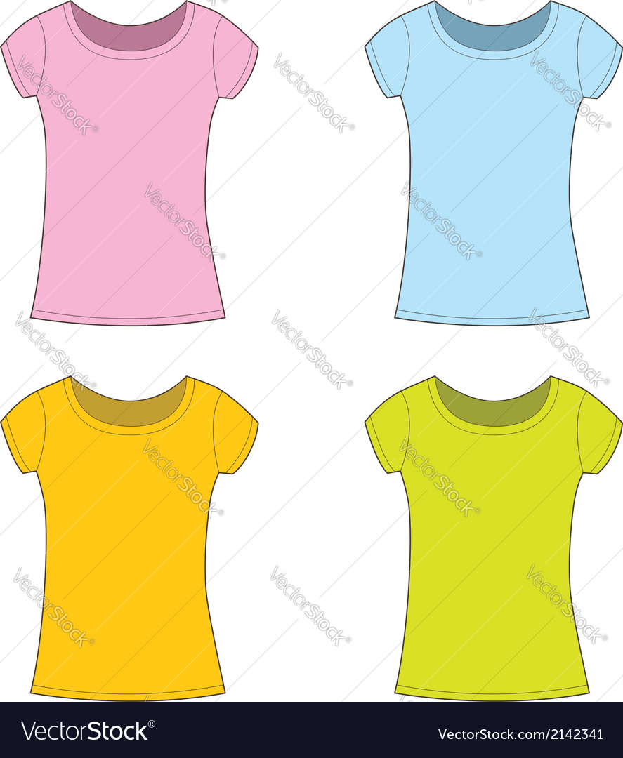 T-shirts for girl vector | Price: 1 Credit (USD $1)