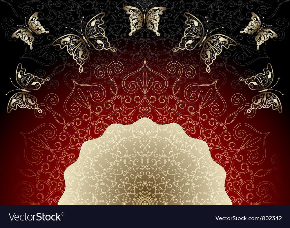 Black-red elegance frame vector | Price: 1 Credit (USD $1)