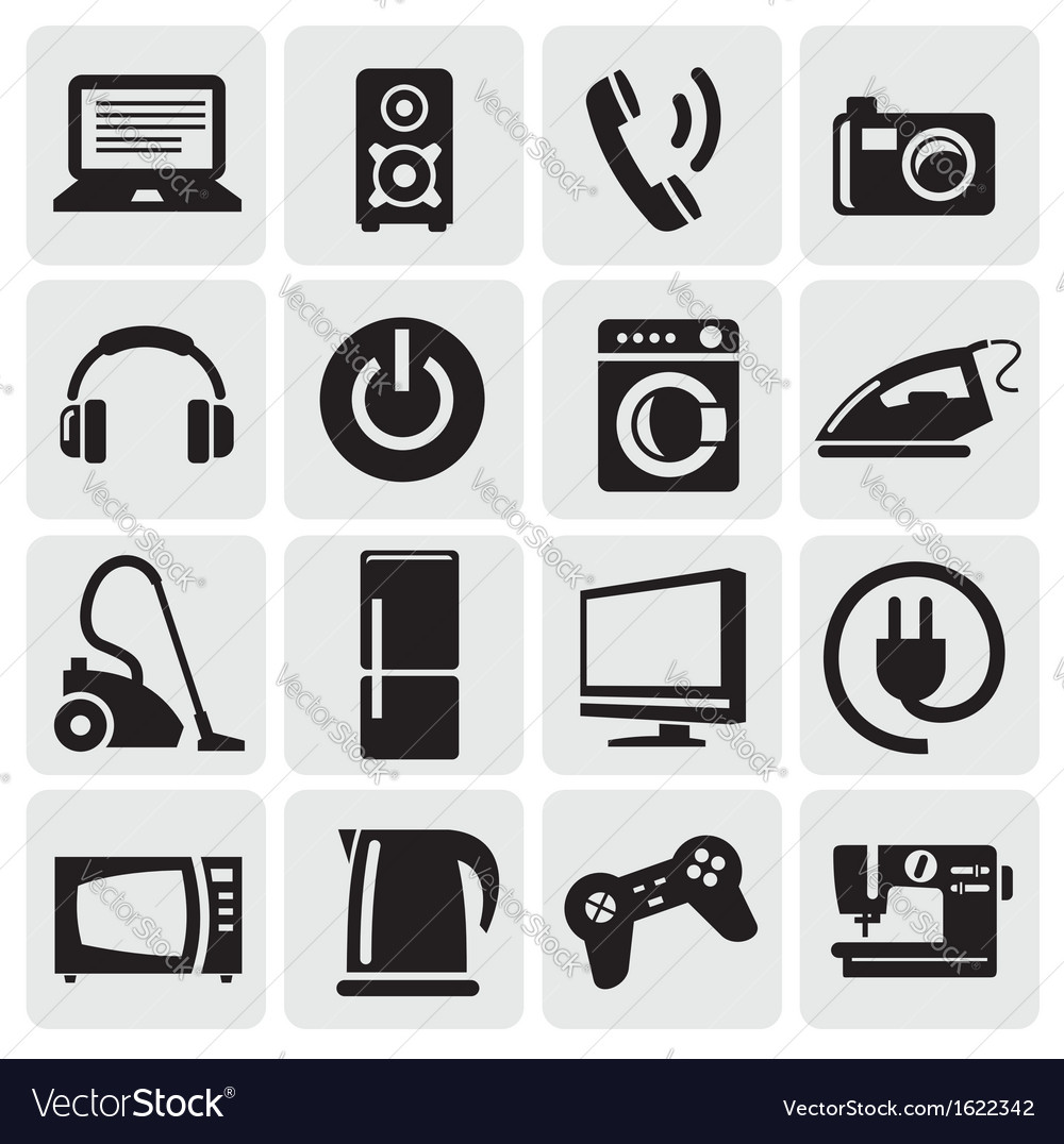 Devices icons set vector | Price: 1 Credit (USD $1)