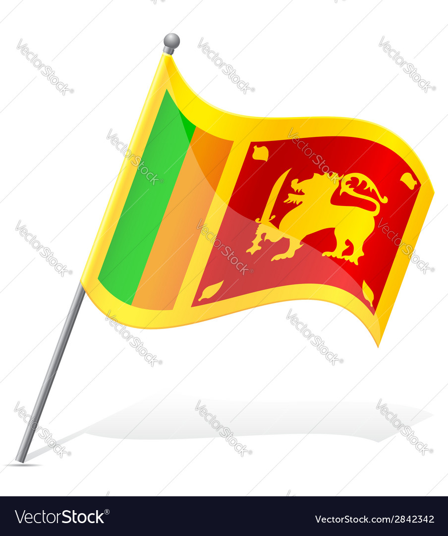 Flag of sri lanka vector | Price: 1 Credit (USD $1)