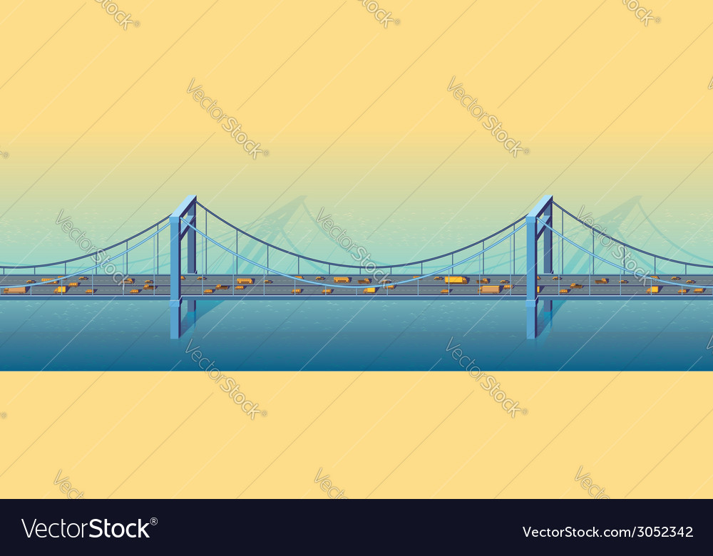 Large bridge vector | Price: 1 Credit (USD $1)
