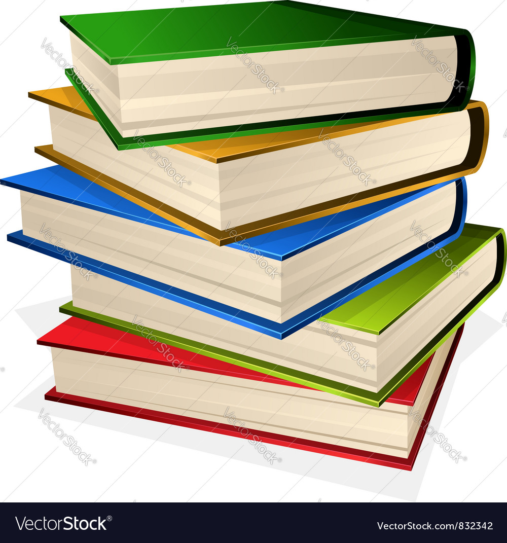 Pile of books vector | Price: 3 Credit (USD $3)