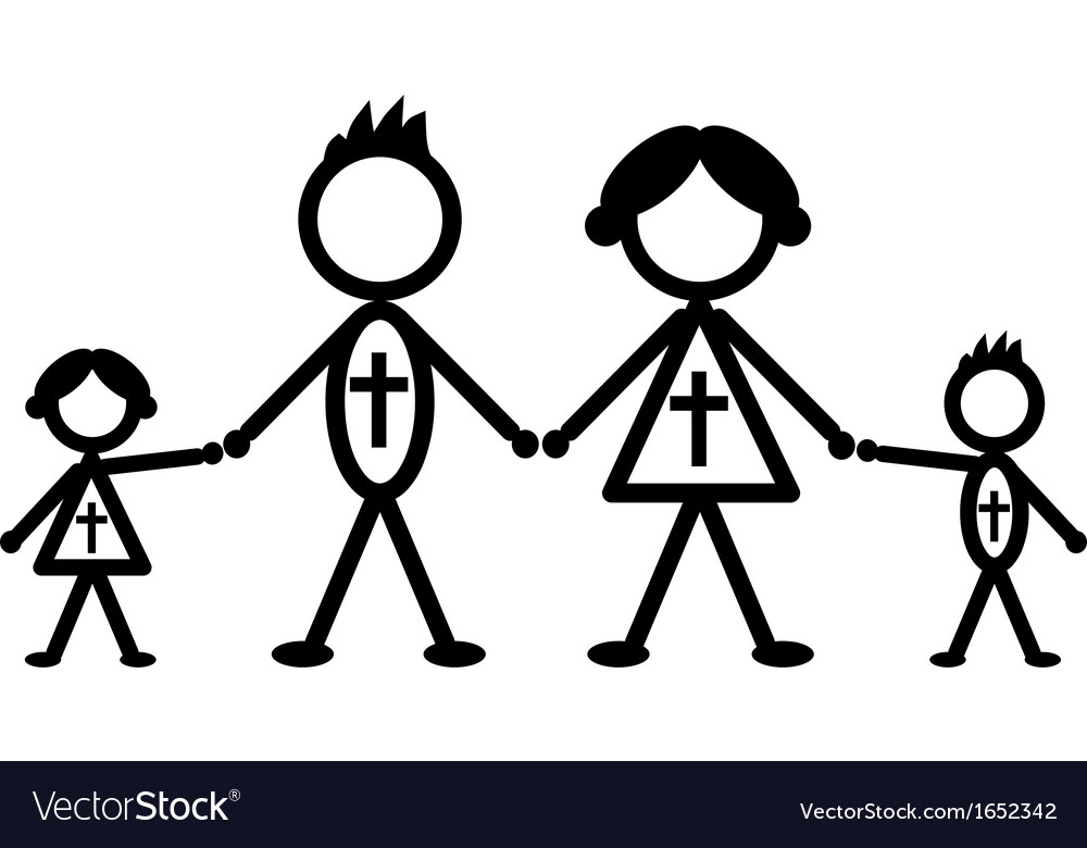 Religious stick family vector | Price: 1 Credit (USD $1)